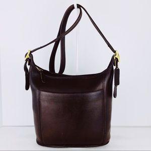 Coach Vintage Brown Leather Legacy Slim Duffel Bag